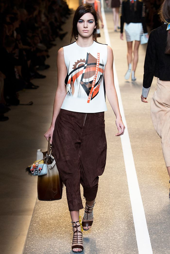 Fendi black carrot pants spring-summer 2015