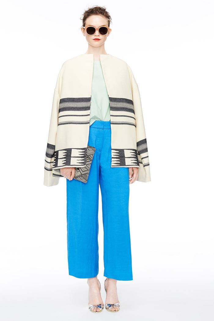 J Crew cropped blue pants spring-summer 2015