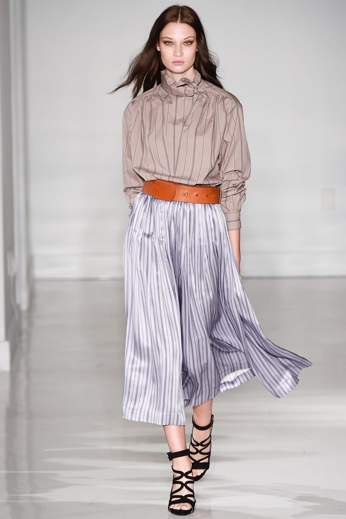 Jill Stuart beige striped blouse spring summer 2015