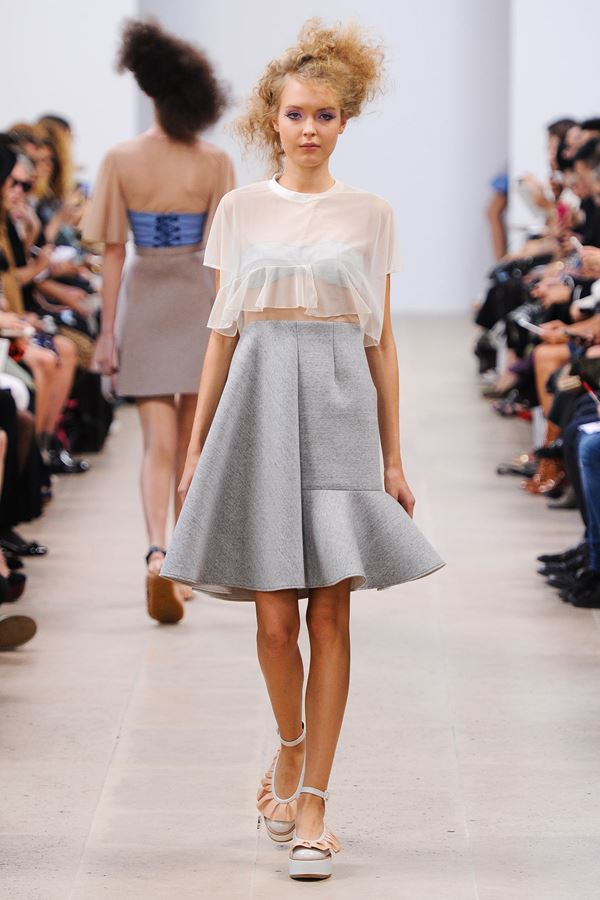 Julien David asymmetric skirt spring summer 2015