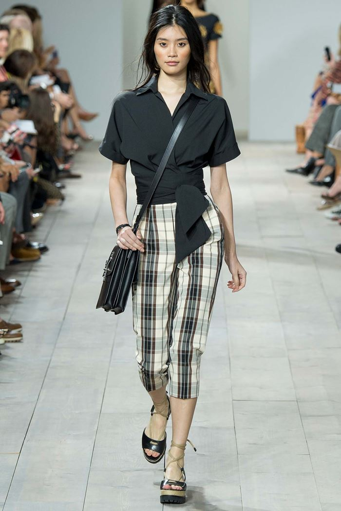 Michael Kors plaid cropped pants spring-summer 2015