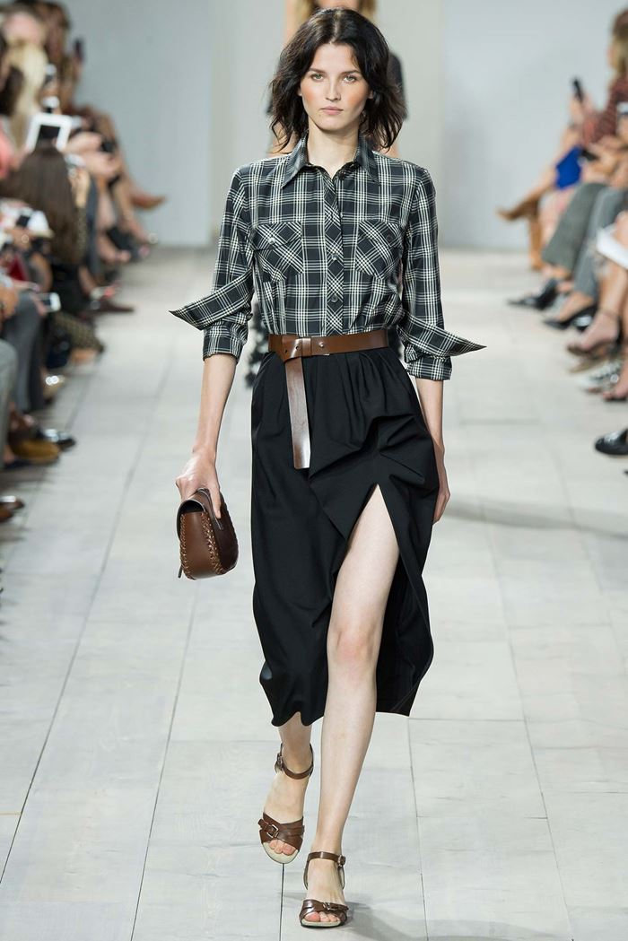 Michael Kors plaid shirt spring-summer 2015