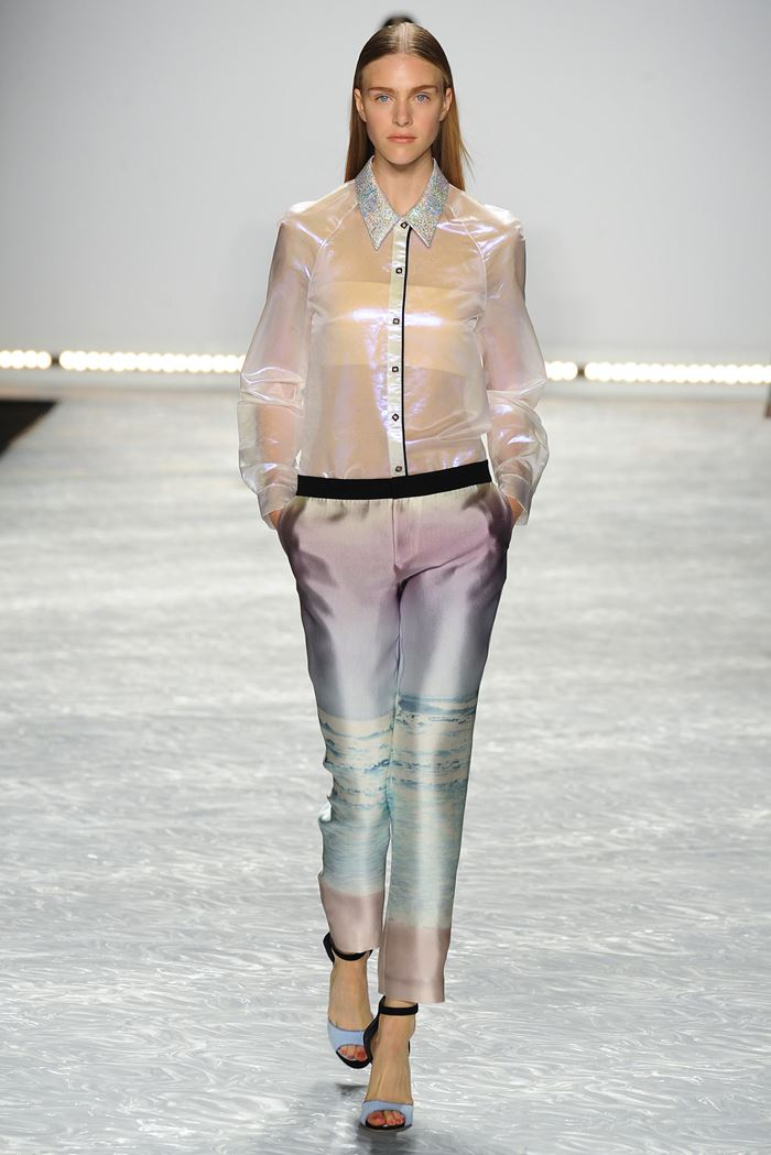 Monique Lhuillier transparent blouse spring-summer 2015