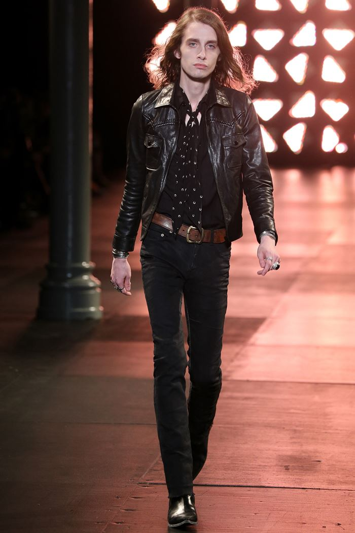Saint Laurent men's leather jacket 2015