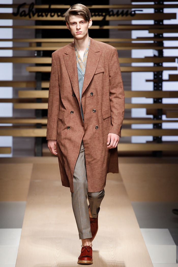 Salvatore Ferragamo coat for men spring summer 2015