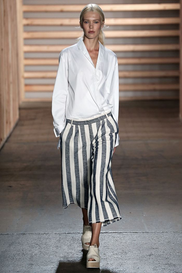 Tibi  cropped striped pants spring-summer 2015