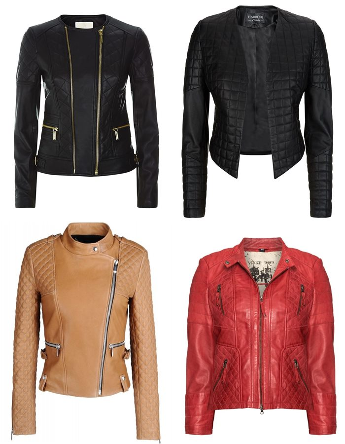 slim quilted leather jackets for fall 2015