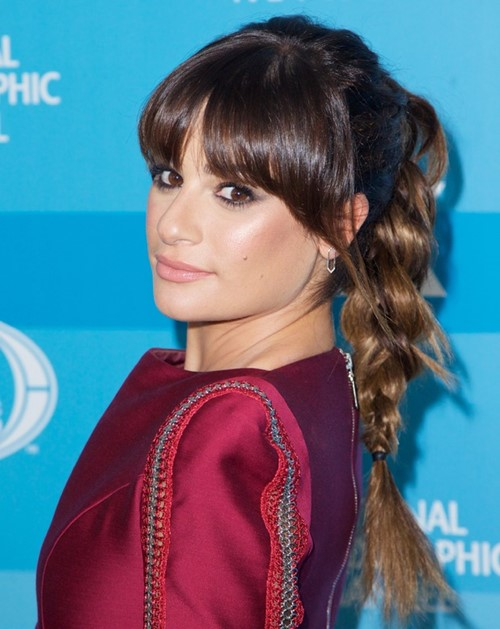 2015 Celebrity Braided Hairstyles: Lea Michele