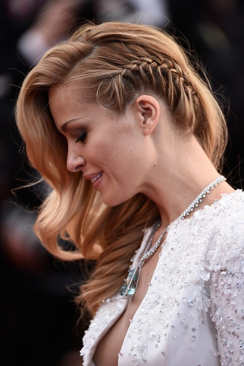2015 Celebrity Braided Hairstyles: Petra Nemcova