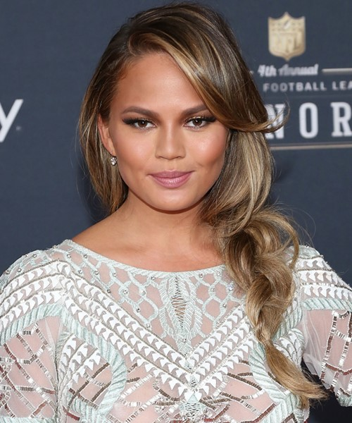 2015 Celebrity Braided Hairstyles: Chrissy Teigen