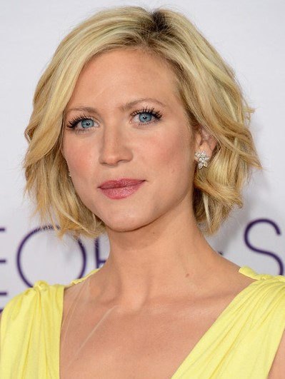 2015 Layered Bob Hairstyles: Brittany Snow