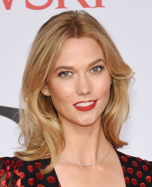 2015 Straight Hairstyles for Work: Karlie Kloss