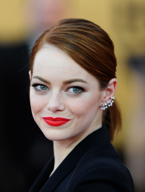 2015 Straight Hairstyles for Work: Emma Stone