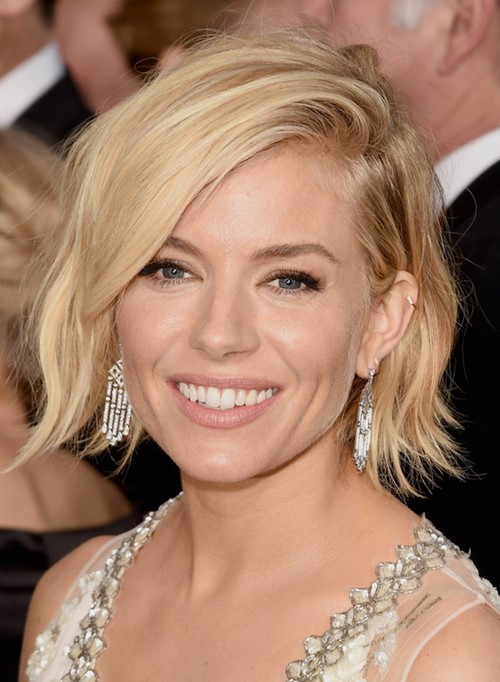 Bob Hairstyles with Bangs 2015: Sienna Miller