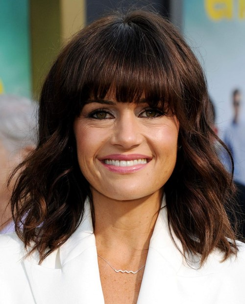 Bob Hairstyles with Bangs 2015: Carla Gugino