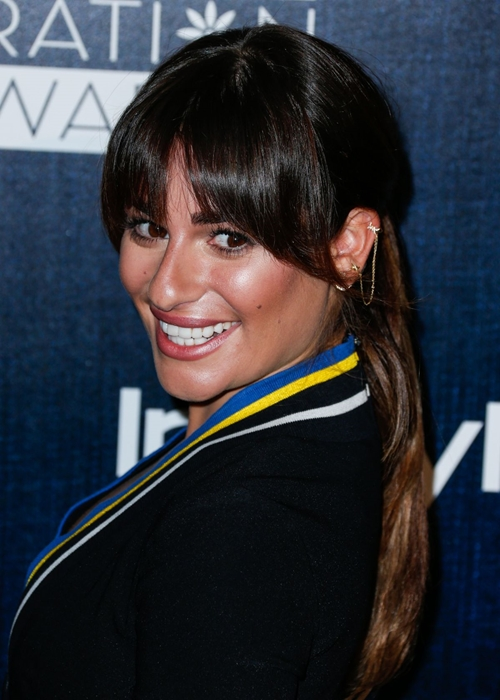 Celebrity Hairstyles with Bangs 2015: Lea Michele