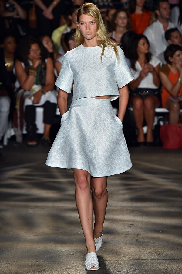 Christian Siriano Skirt Suit Spring-Summer 2015