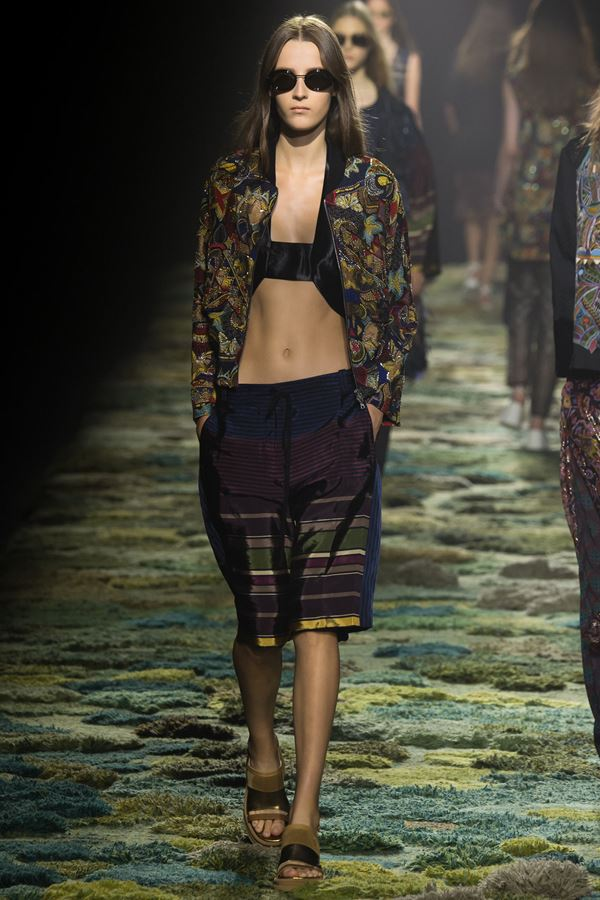 Dries van Noten Summer Knee-Length Shorts for Women 2015