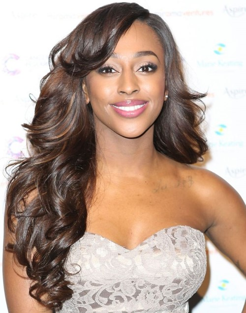 Long Hairstyles for Thick Hair 2015: Alexandra Burke