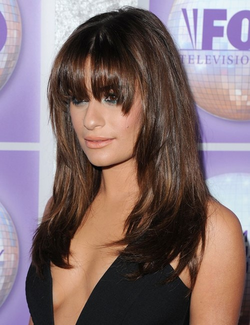 Long Layered Hairstyles 2015: Lea Michele