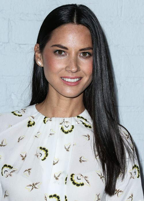 Long Straight Hairstyles 2015: Olivia Munn