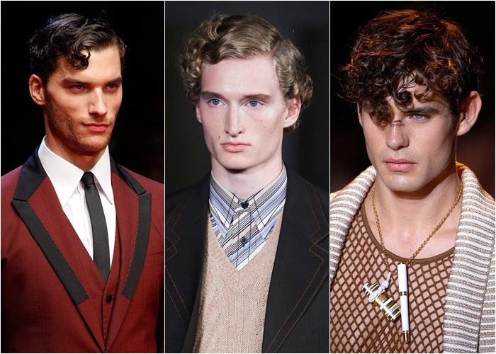 Popular Men's Hairstyles 2015: wet curly