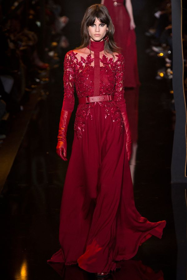Gown Style A-line Evening Dresses Fall-Winter 2015-2016 Elie Saab