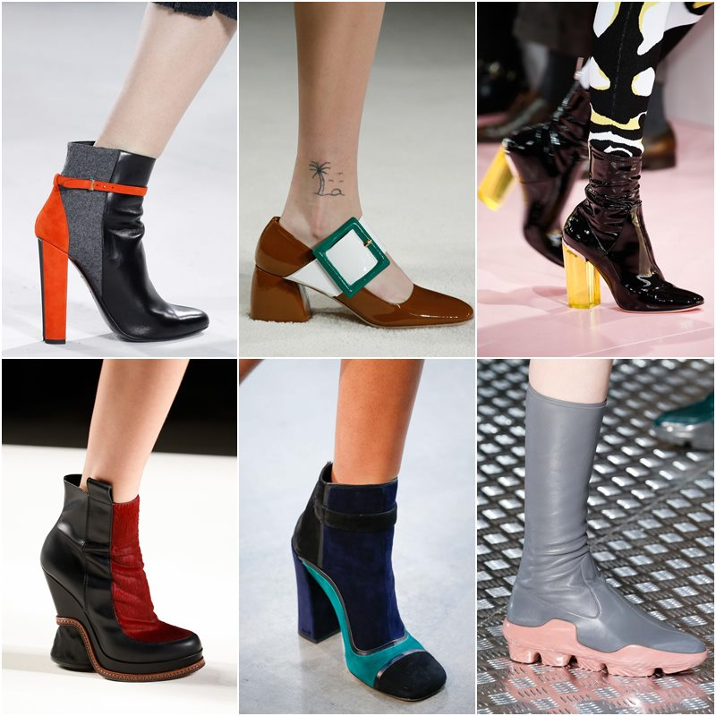 Contrasting shoes with color accents Fall-Winter 2015-2016