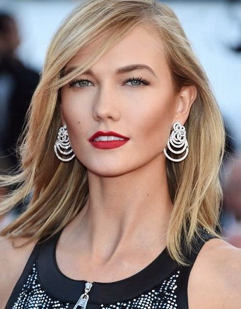 Medium Length Hairstyles for Women 2015 Karlie Kloss