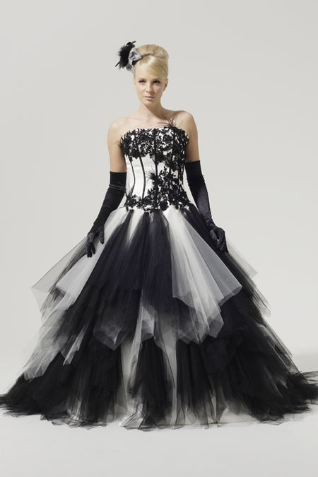 Black and White Wedding Dresses 2015-2016 Aimee
