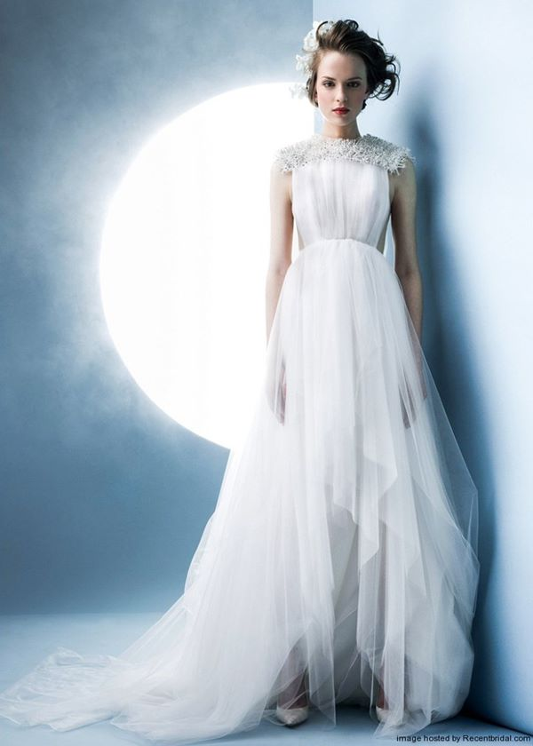 Greek Style Wedding Dresses 2015-2016 Angel Sanchez