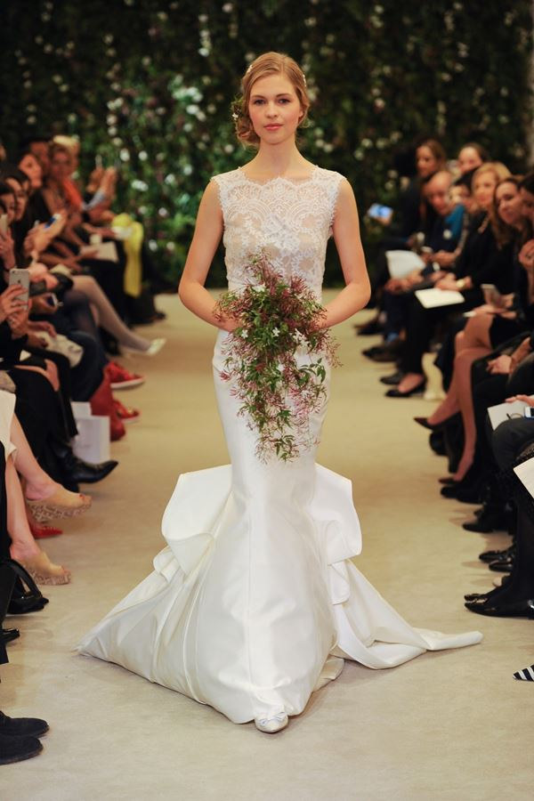 Mermaid Wedding Dresses 2015-2016 Carolina Herrera