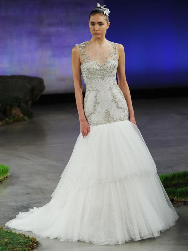 Crystal Beaded Wedding Dresses 2015-2016 Ines Di Santo