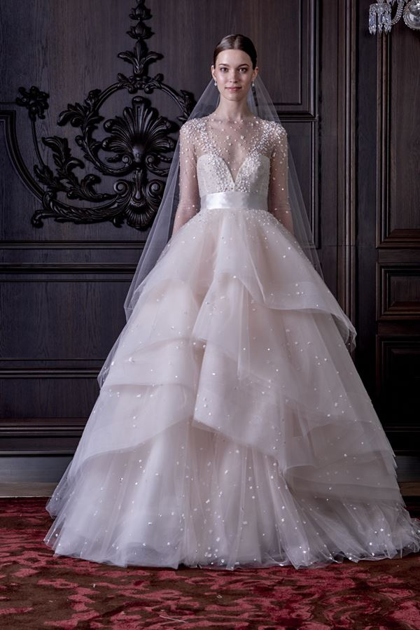 Tulle Skirt Wedding Dresses 2015-2016 Monique Lhuillier