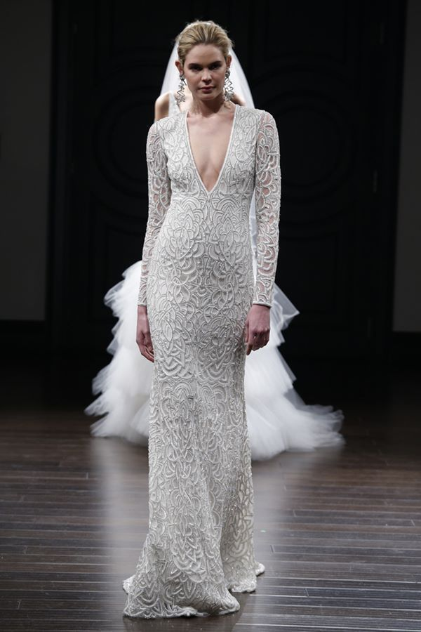 Long Sleeve Wedding Dresses 2015-2016 Naeem Khan