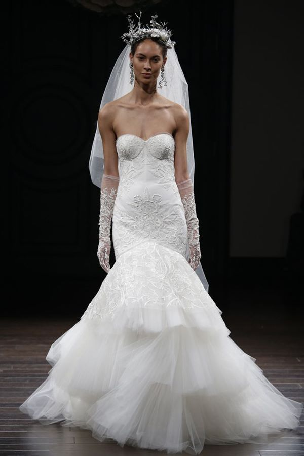 Corset & Sweetheart Neckline Wedding Dresses 2015-2016 Naeem Khan