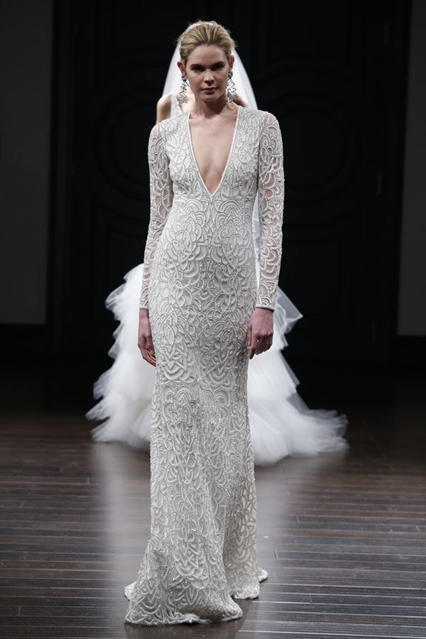 Simple and Elegant Wedding Dresses 2015-2016 Naeem Khan
