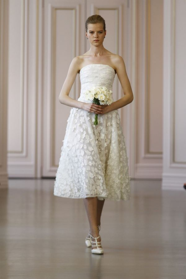 Short Wedding Dresses 2015-2016 Oscar de la Renta