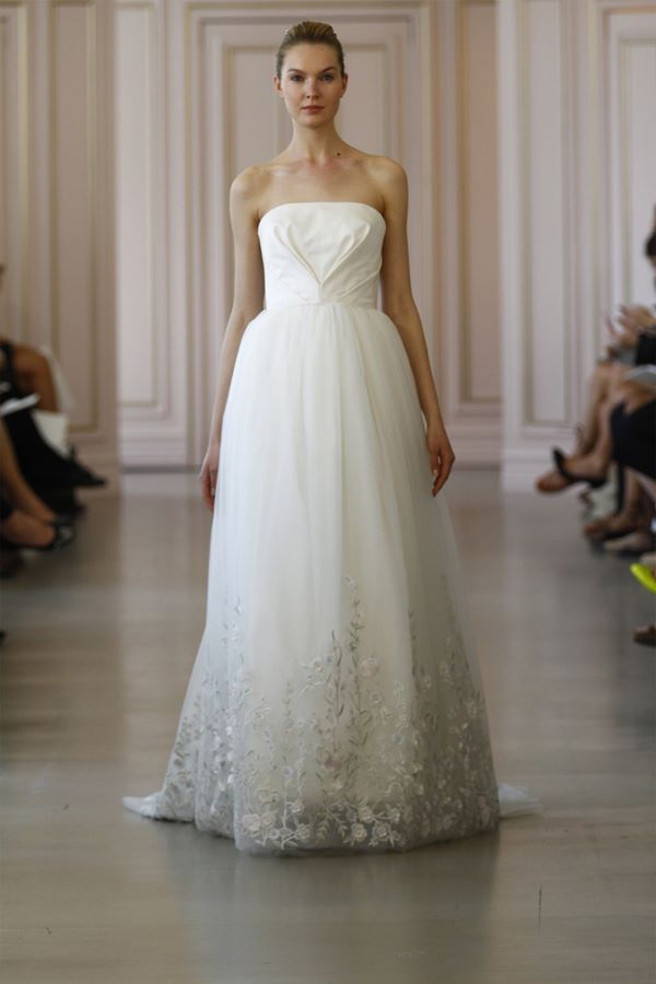 Embroidered and Applique Wedding Dresses 2015-2016 Oscar de la Renta