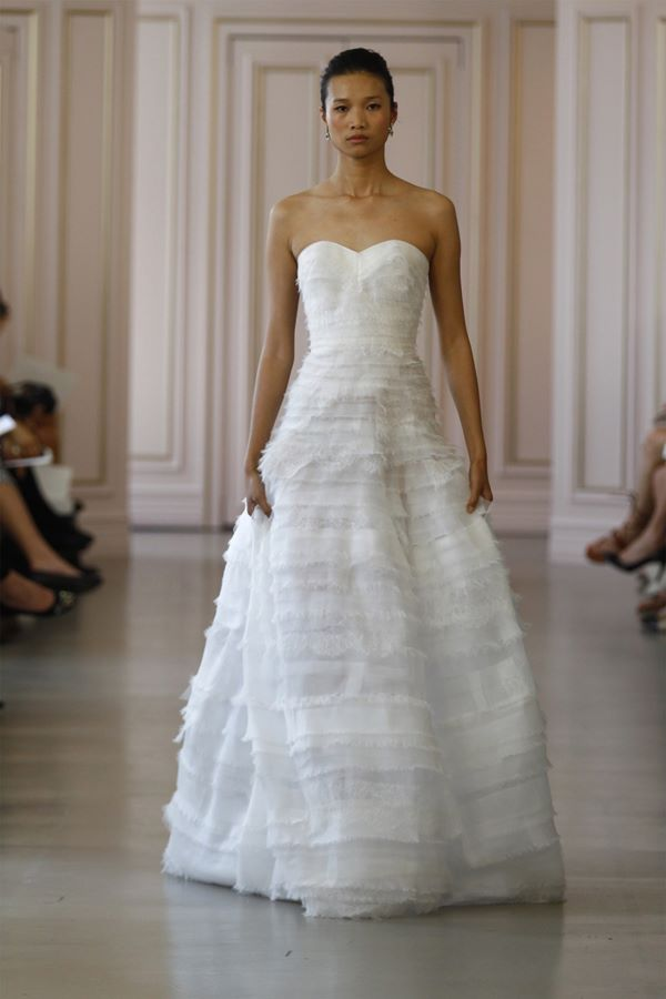 A-Line Wedding Dresses 2015-2016 Oscar de la Renta