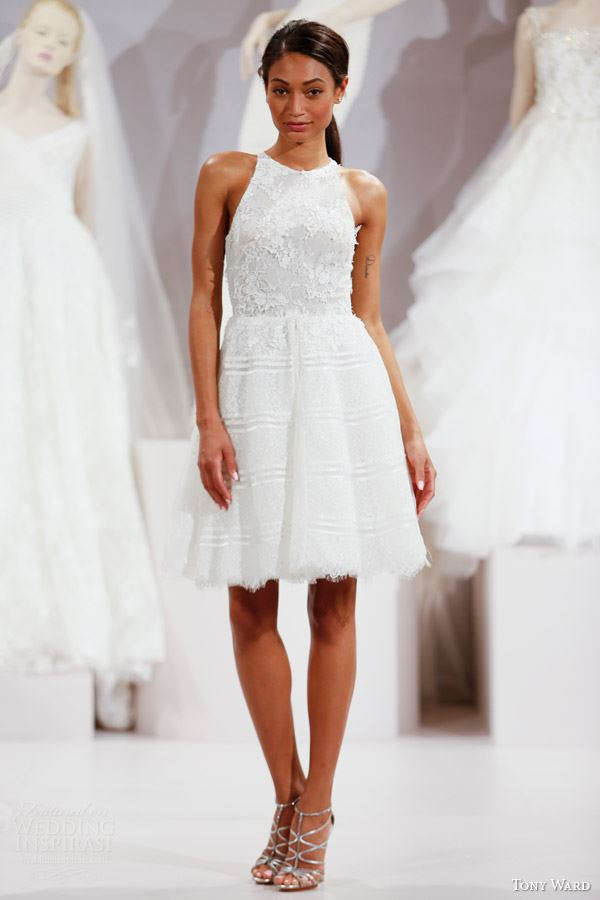 Short Wedding Dresses 2015-2016 Tony Ward