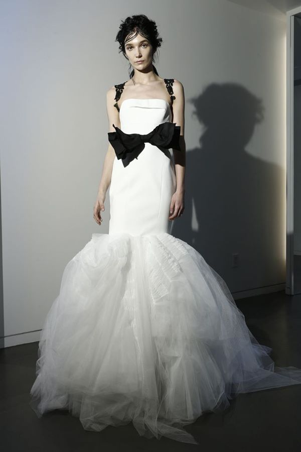 Black and White Wedding Dresses 2015-2016 Vera Wang