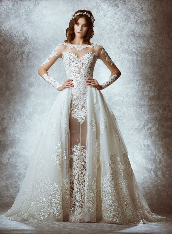 Embroidered and Applique Wedding Dresses 2015-2016 Zuhair Murad