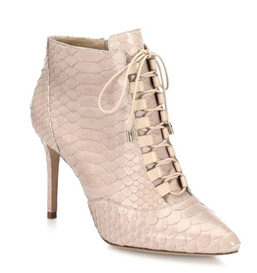 Alexandre Birman python lace up ankle boots