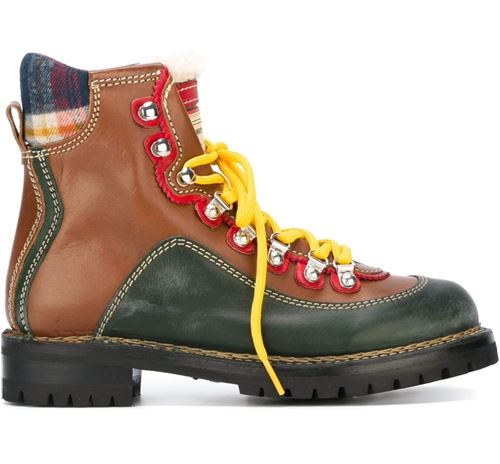 Dsquared² flat lace up boots