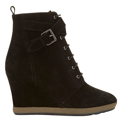 Mint Velvet wedge suede lace up ankle boots