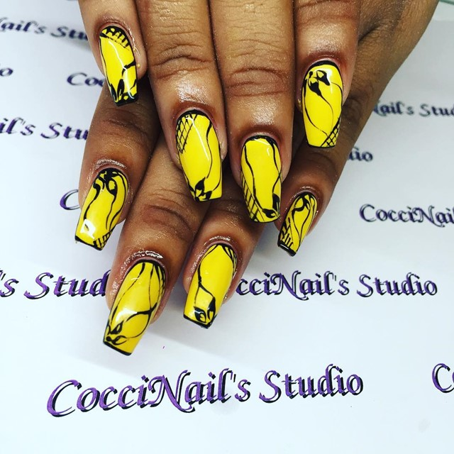 Yellow Nail Design Ideas 2015-2016, picture 3