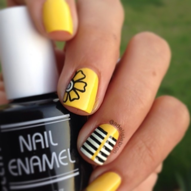 Yellow Nail Design Ideas 2015-2016, picture 7
