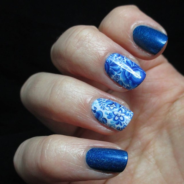 Blue Nail Design Ideas 2015-2016, picture 15