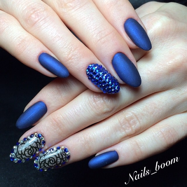 Blue Nail Design Ideas 2015-2016, picture 19